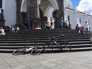 Verschnaufpause mit Paul am Plaza de Teatro