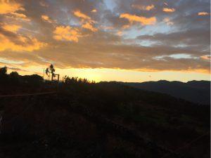 Sonnenuntergang in Oña