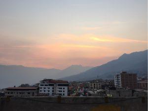 Sonnenuntergang in Abancay